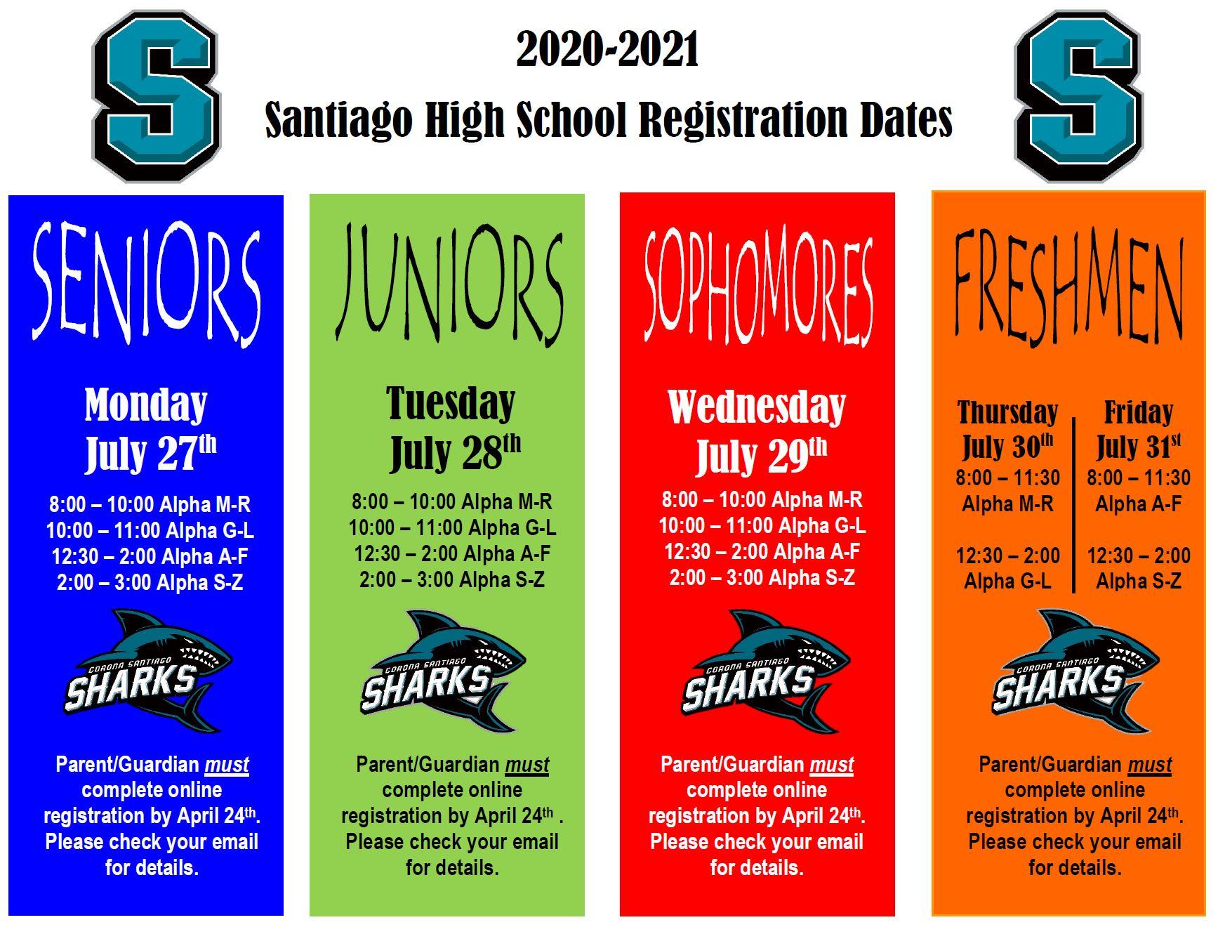 Home - Santiago High School Inside Hamilton County School Calendar 2021 20