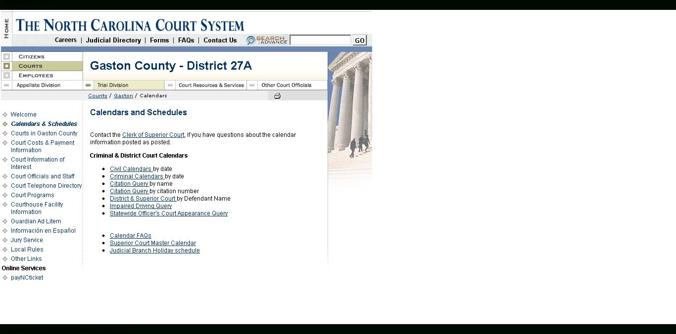 How Do I Find My Court Date If I Don't Have My Ticket Pertaining To Nc Court Calendar District & Superior Court