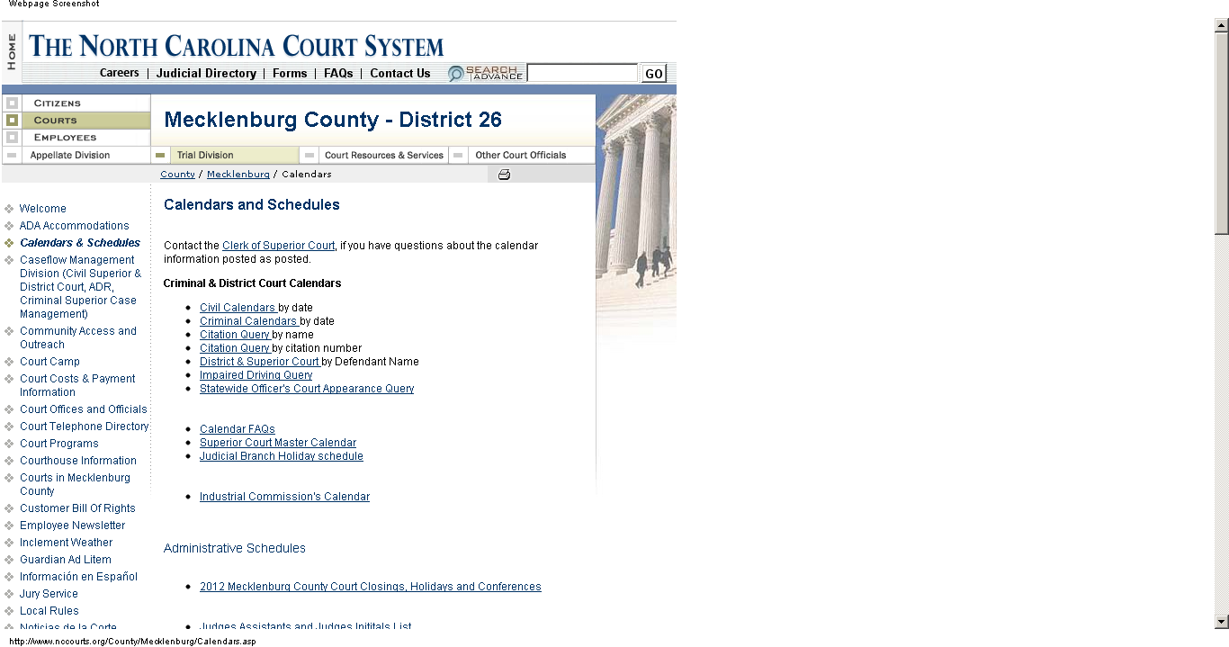 How Do I Find My Court Date If I Don't Have My Ticket Pertaining To Superior And District Court Calendars Nc