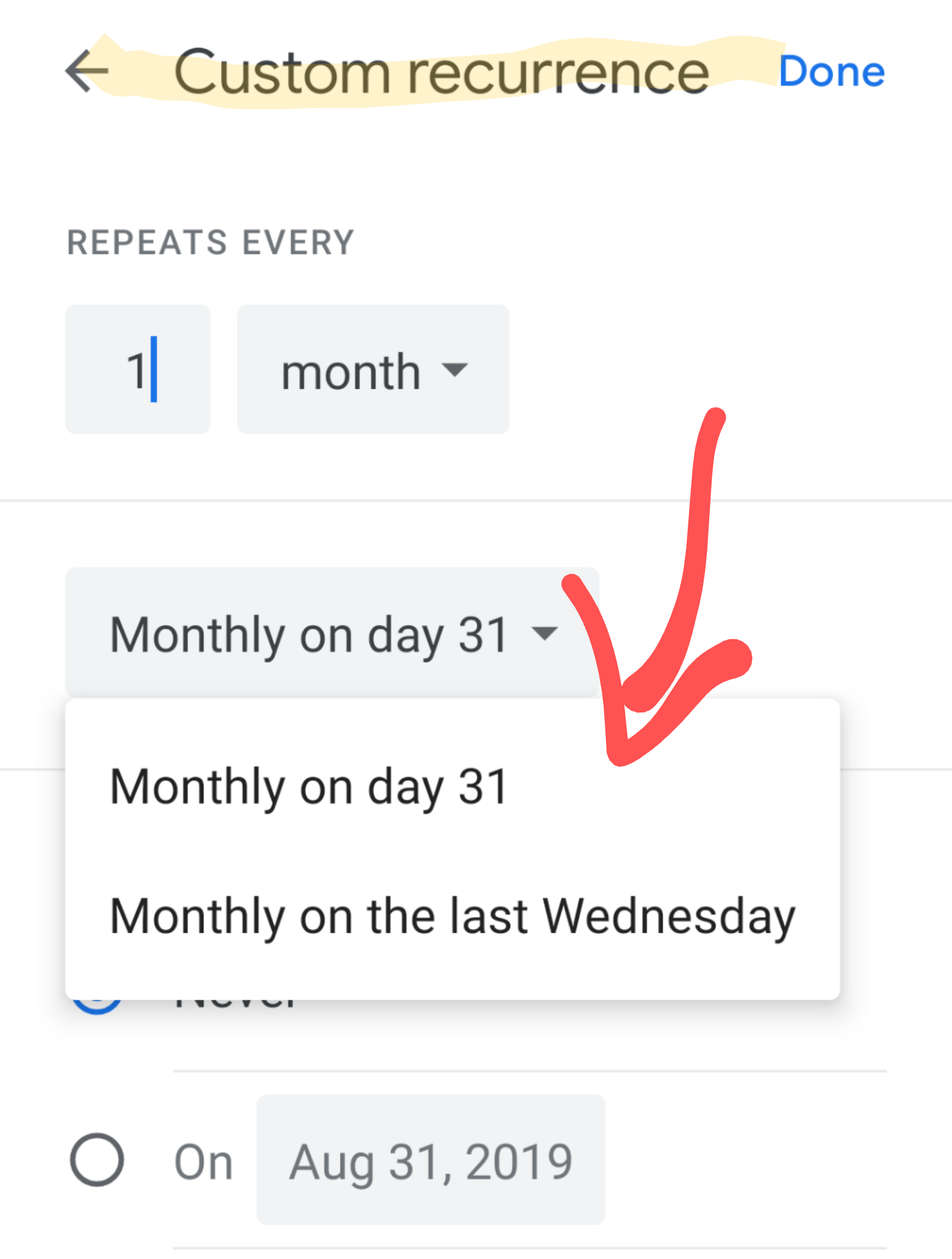 How Do You Set Up A Recurring Event Occurring On The Last With Regard To Create A Recurring Task In Google Calendar