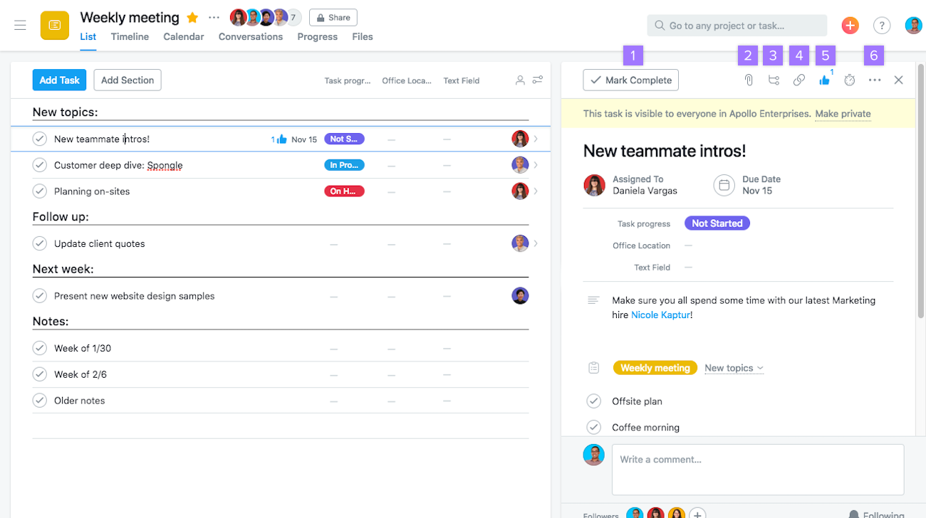 How To Complete Task Fields | Product Guide · Asana In Create A Recurring Task In Google Calendar