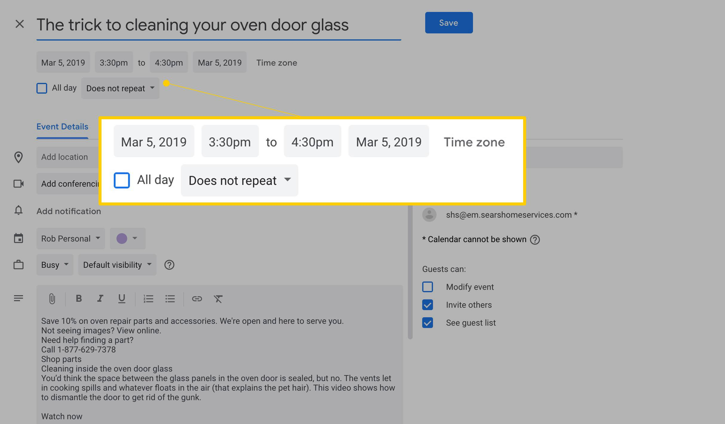 How To Create A Google Calendar Event From A Gmail Message Inside Does Gmail Have A Calendar