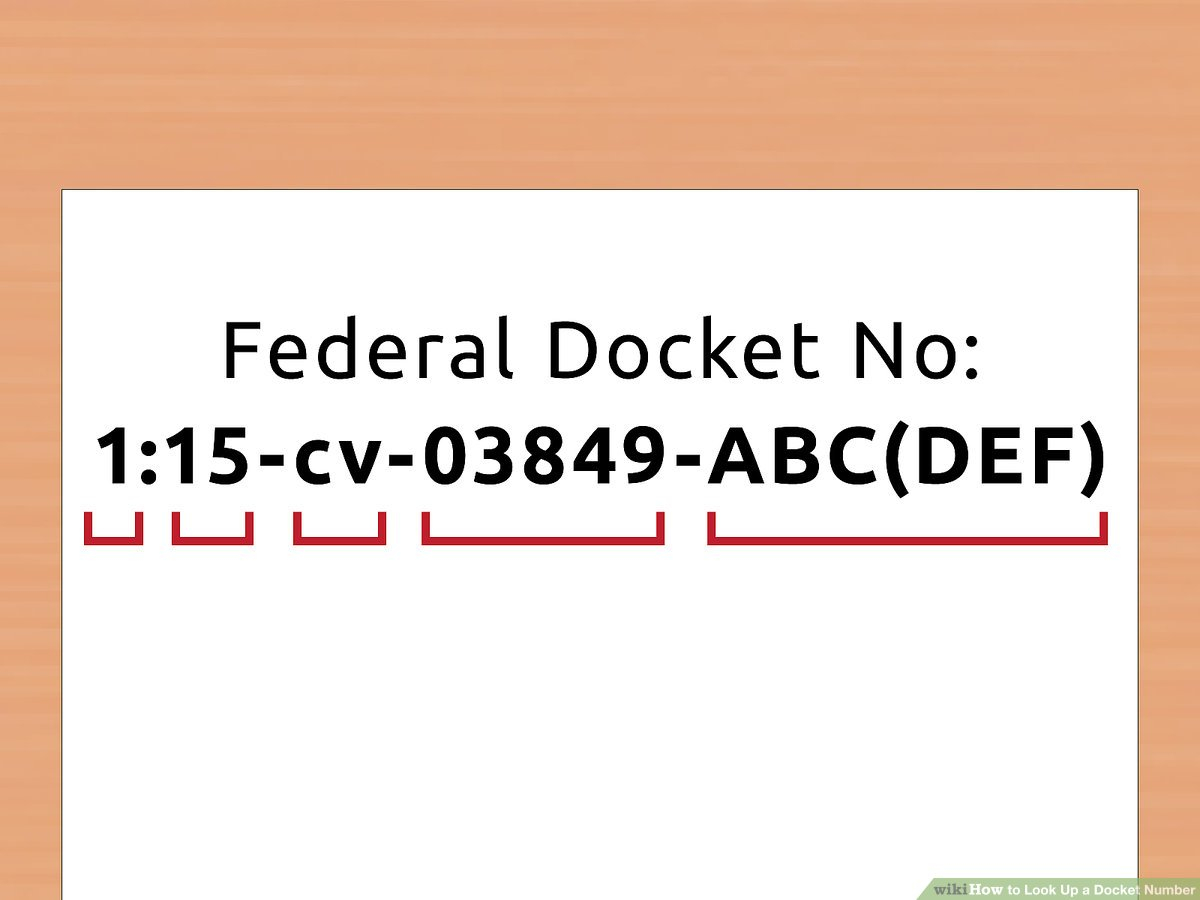 How To Look Up A Docket Number (With Pictures) – Wikihow Intended For Nc Court Federal Court Calendar