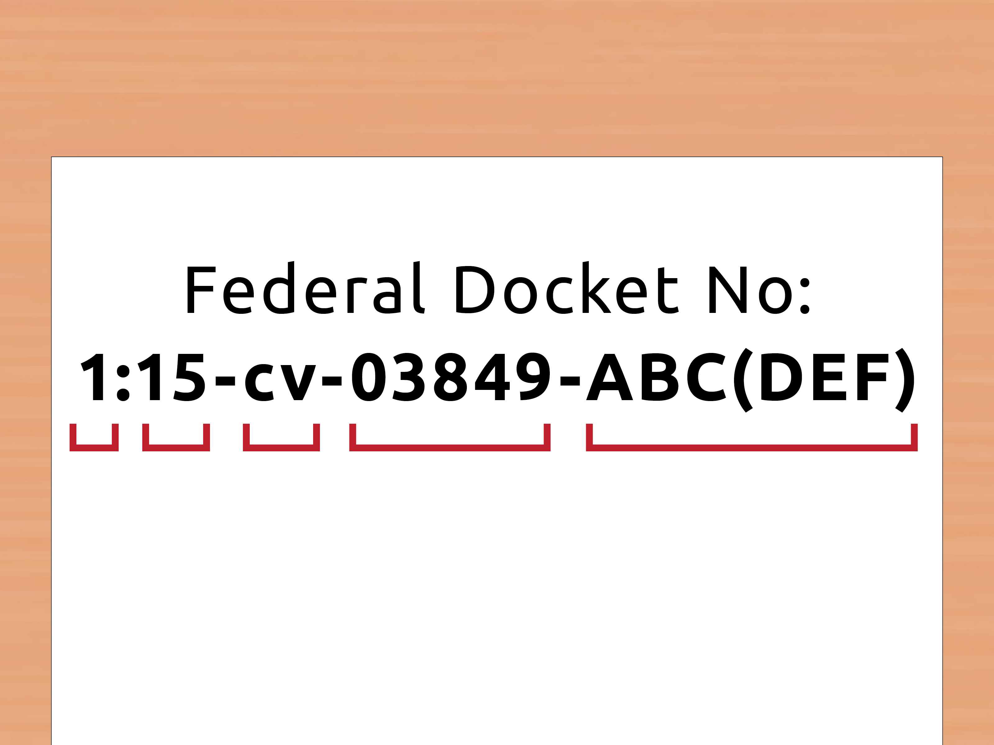 How To Look Up A Docket Number (With Pictures) – Wikihow With Regard To Nc Court Calendar Name
