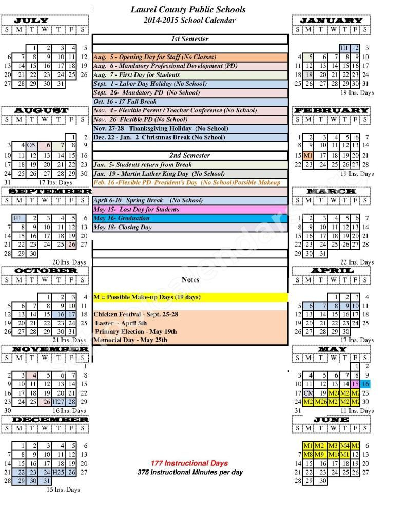 Http://printcalendaron/madison County Schools Ky Calendar/ In Madison County Schools School Year Calendar