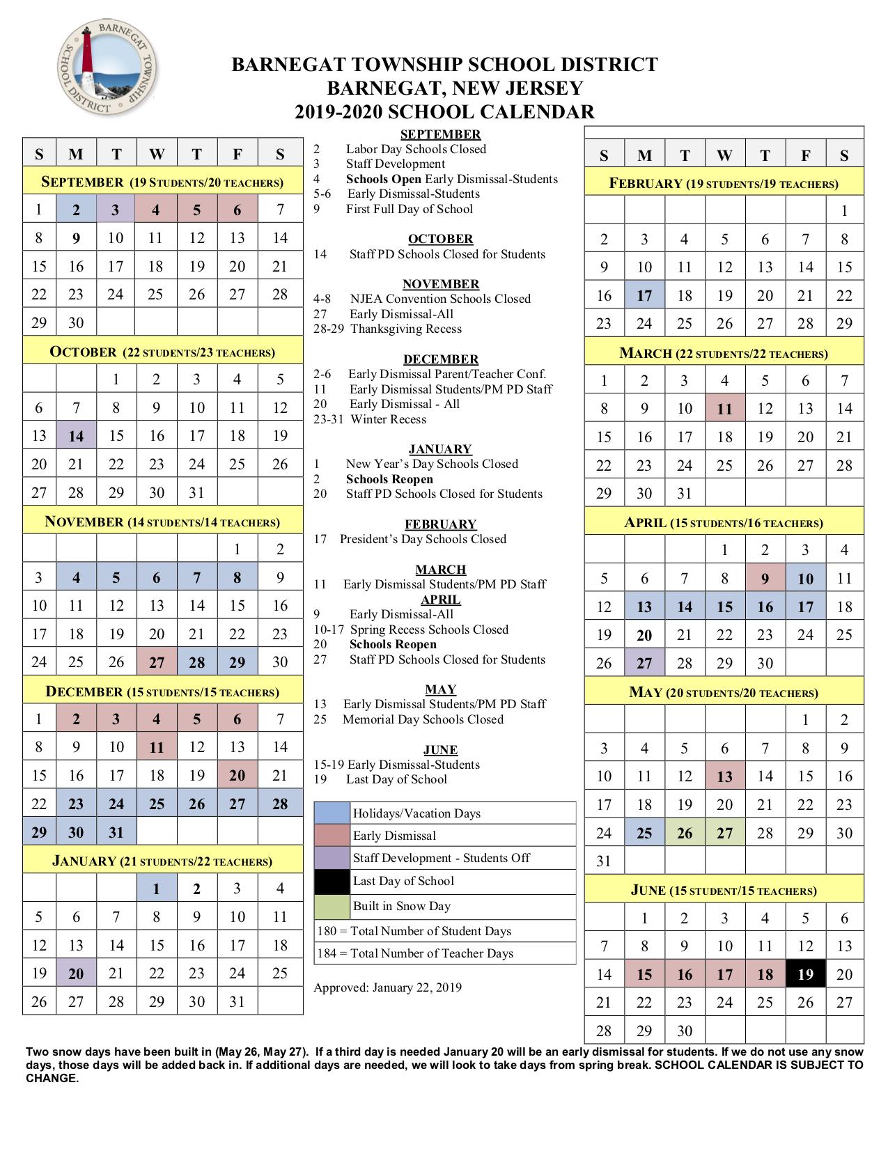 Huff, Jr., R (5Th Gr) / 2019 2020 School Calendar For Boyertown School Calendar