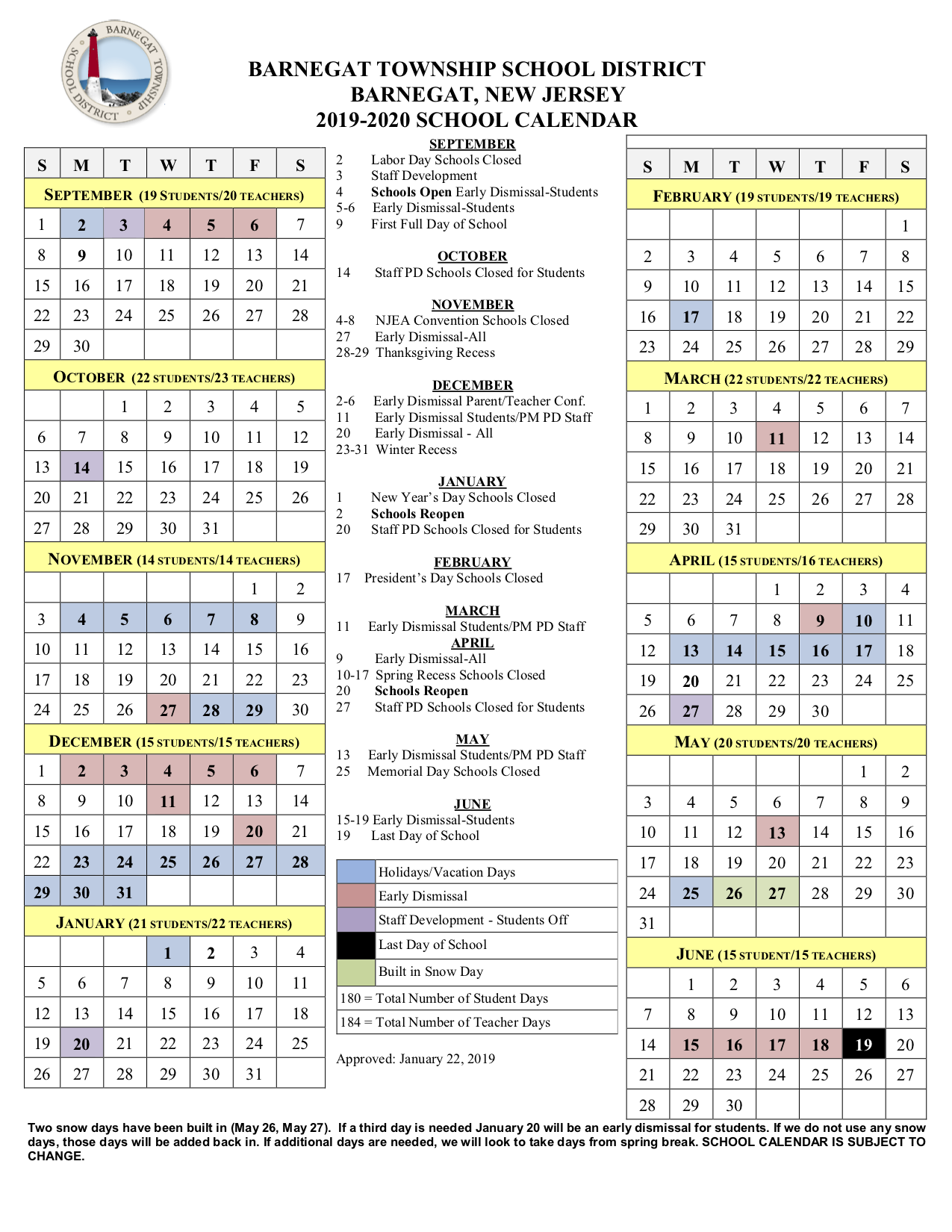 Huff, Jr., R (5Th Gr) / 2019 2020 School Calendar With Boyertown School Calander