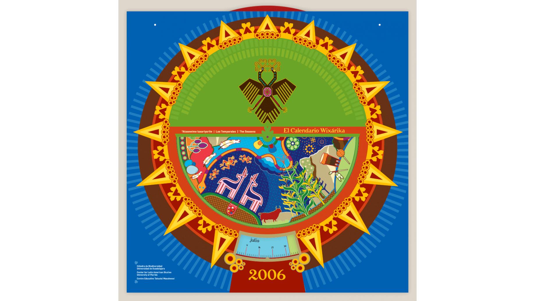 Huichol Calendar   Projects   Mint Design Studio   Graphic Inside Corona Del Sol Calendar