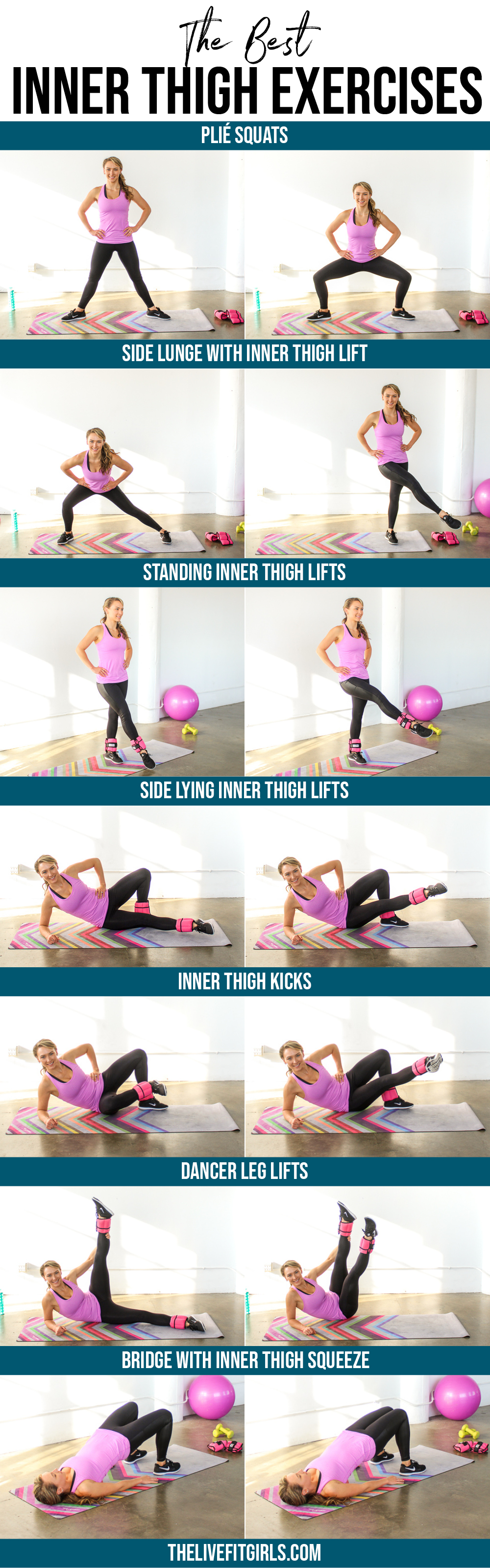Inner Thigh Exercises • The Best Inner Thigh Workout Pertaining To Free Printable Program For Inner Thights