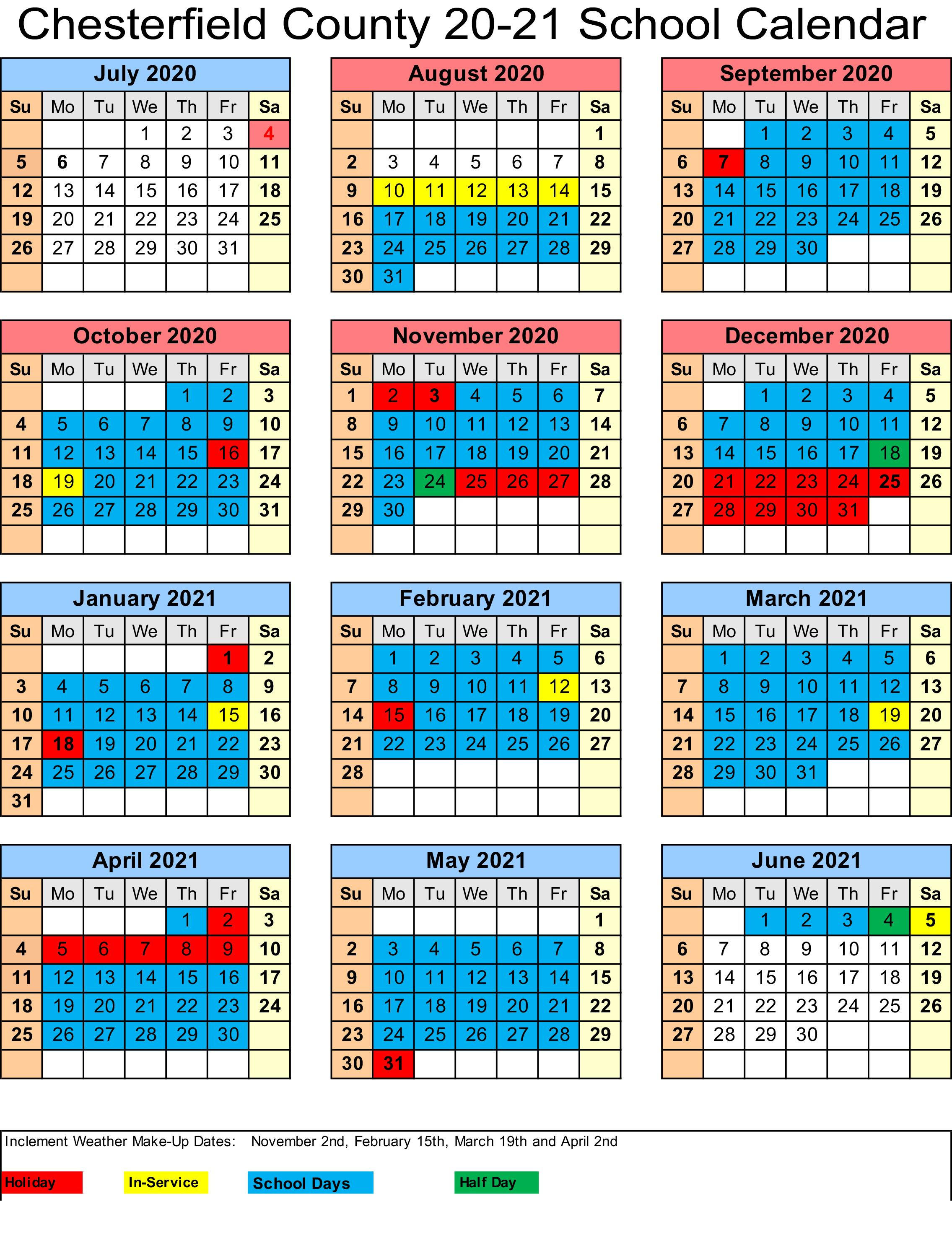 Instruction – Academics – Chesterfield County School District With Regard To Dare County School Calendar