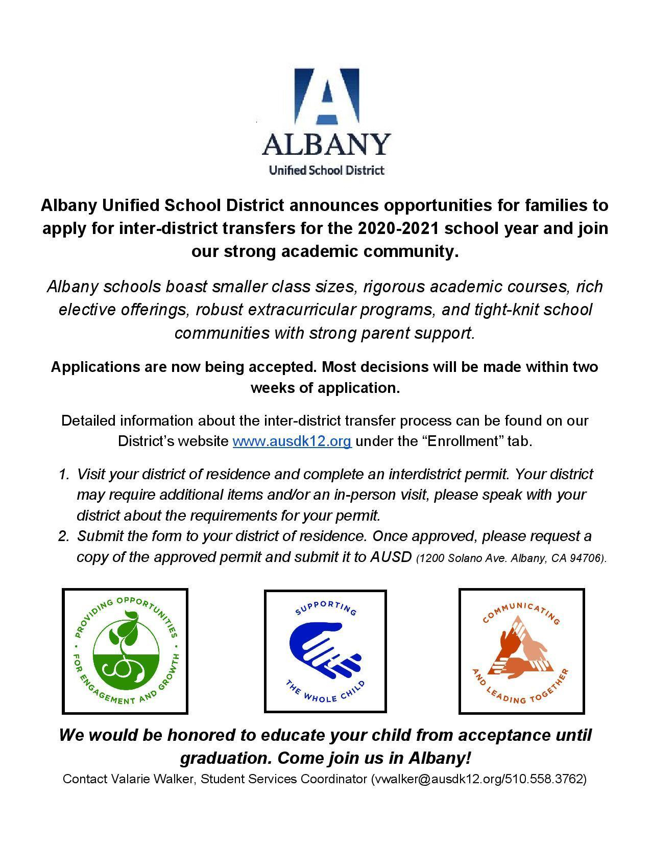 Interdistrict Permit Information – Miscellaneous – Albany Inside Albany City School District Calendar 2021