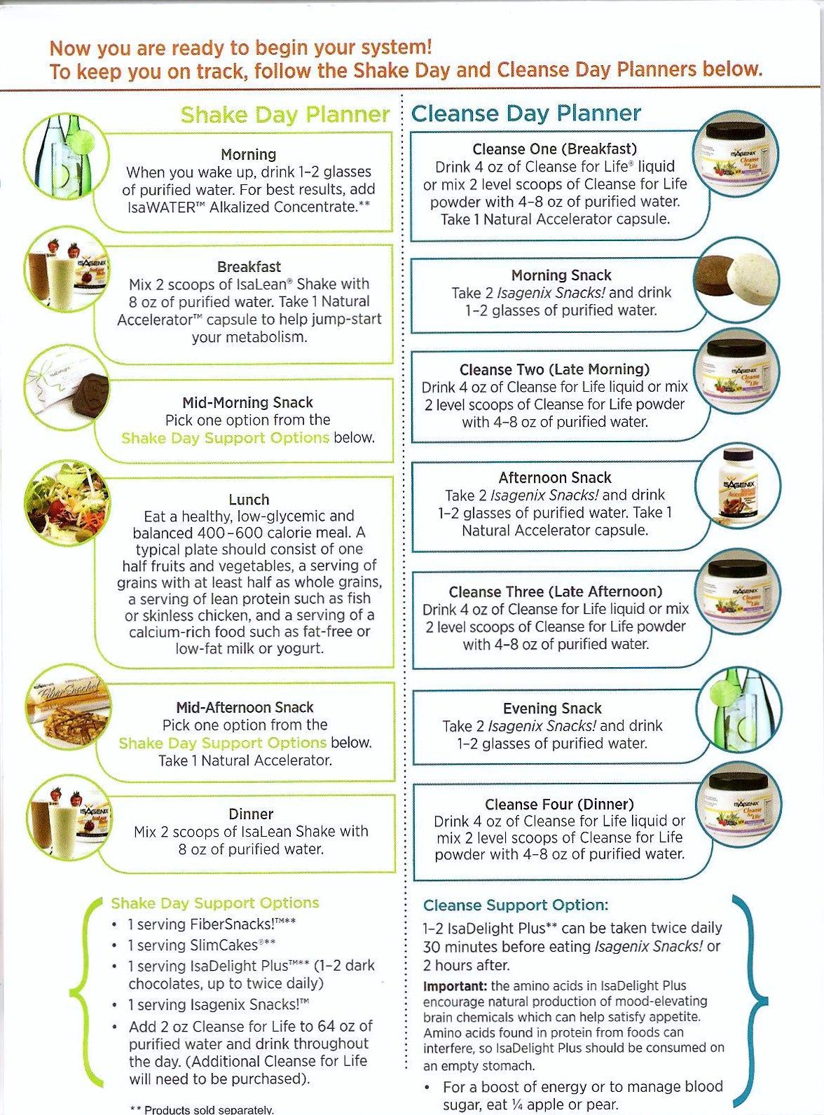 Isagenix Shake Day Planner Cleanse Day Planner (With Images Regarding Isagenix Shake Day Schedule Printable