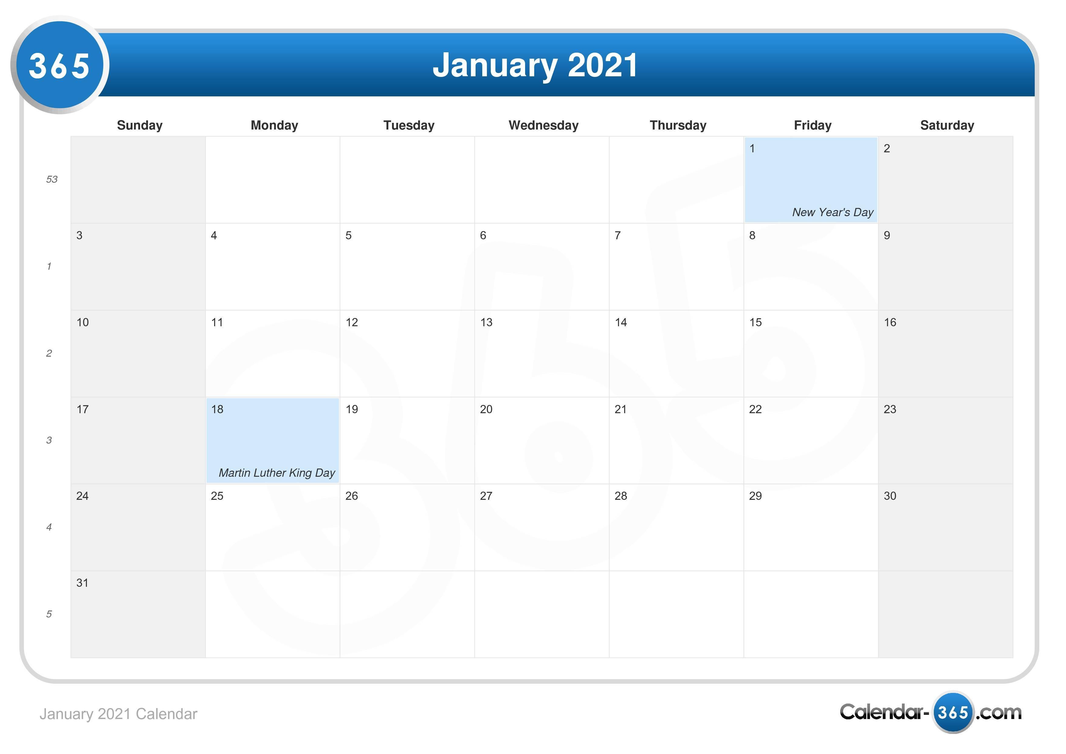 January 2021 Calendar For Columbus State Calendar 2021 20