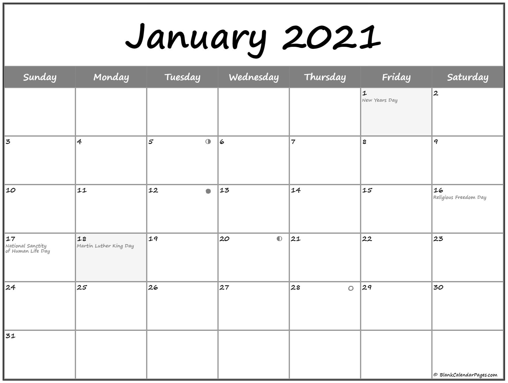 January 2021 Lunar Calendar | Moon Phase Calendar Inside Moon Calendar 2021 Name And Date For Kids