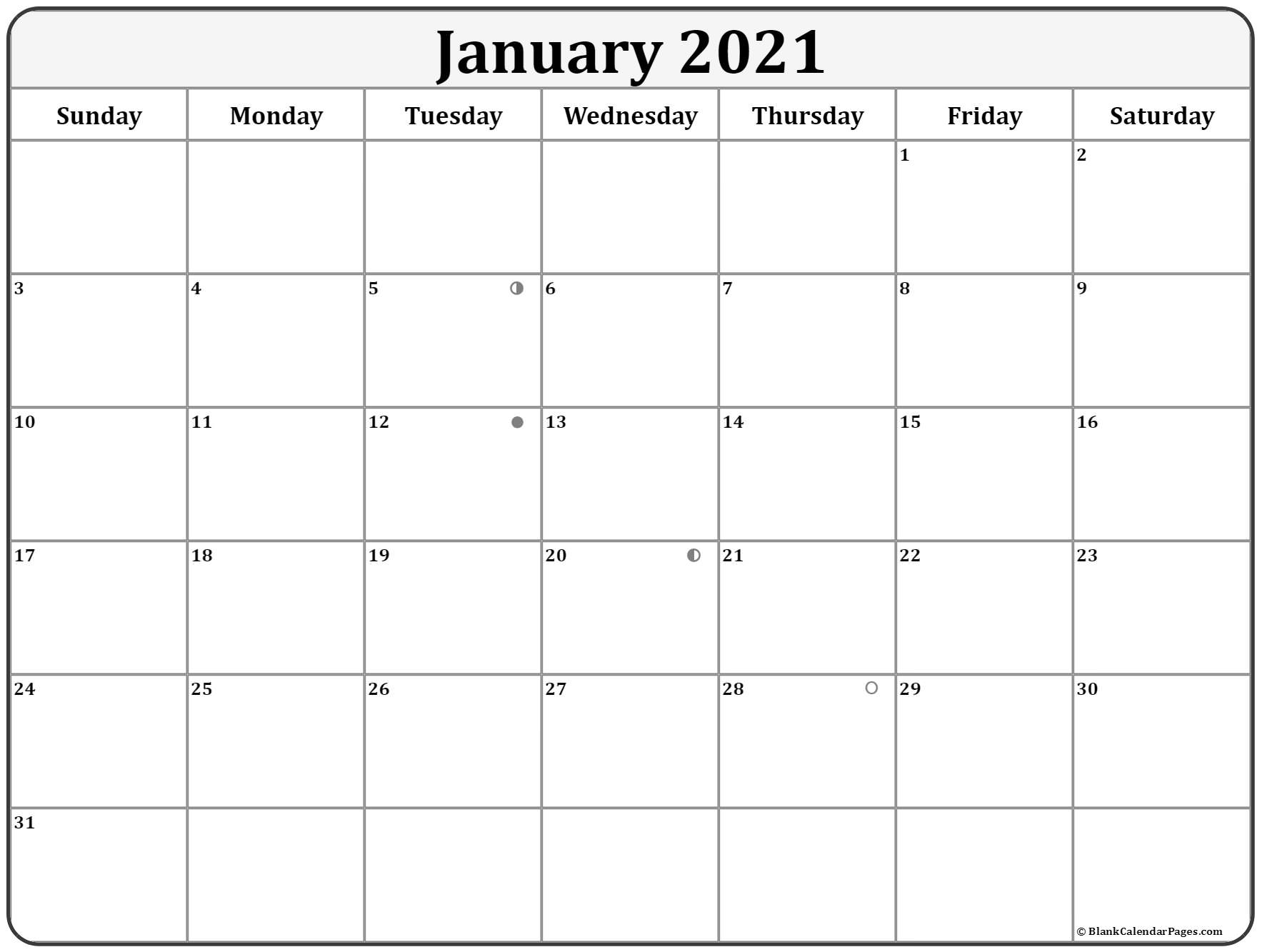 January 2021 Lunar Calendar | Moon Phase Calendar With Moon Calendar 2021 Name And Date For Kids