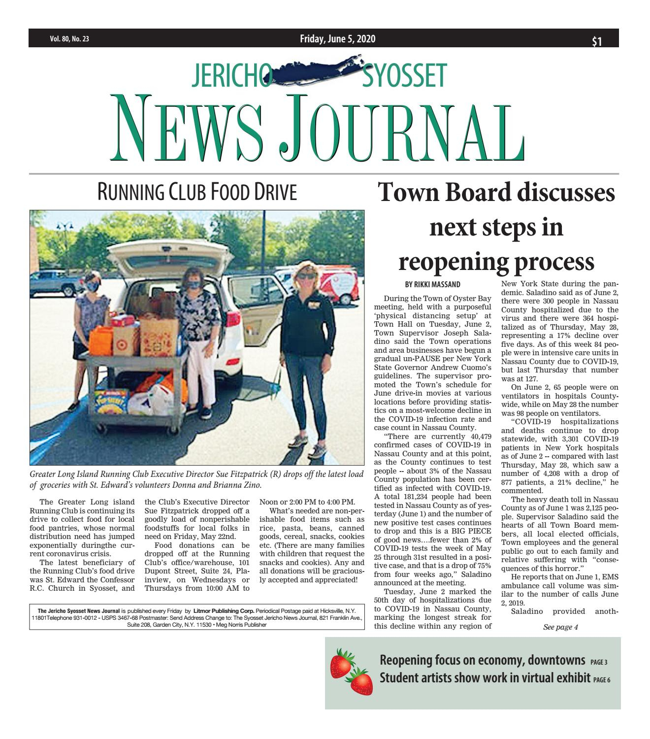 Jericho News Journal 06 05 2020Litmor Publishing – Issuu Regarding Town Oyster Bay Sanitation Calendar