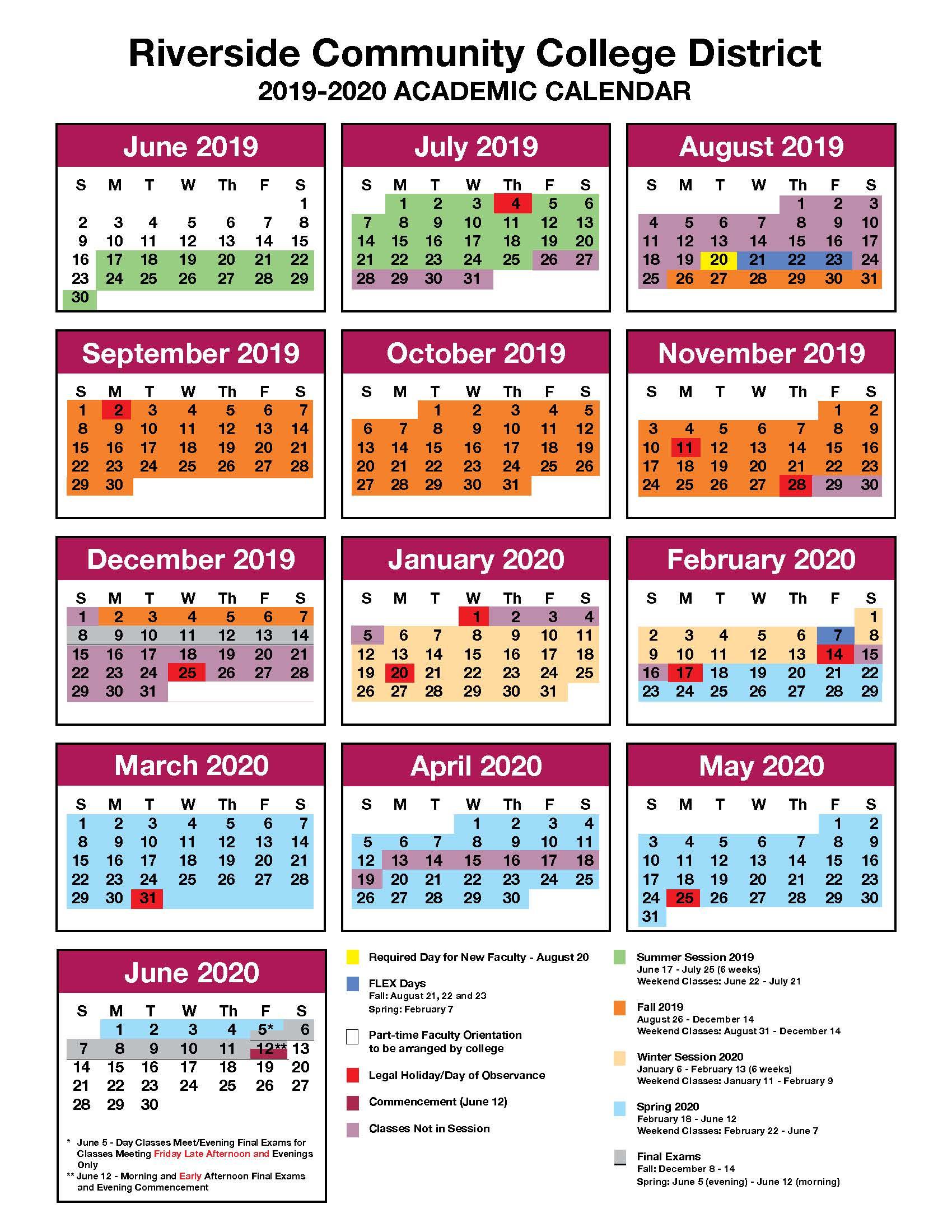 Jfk And Norco College Calendar 2019 2020 - John F. Kennedy Throughout Golden West College Winter Break Schedule 2021