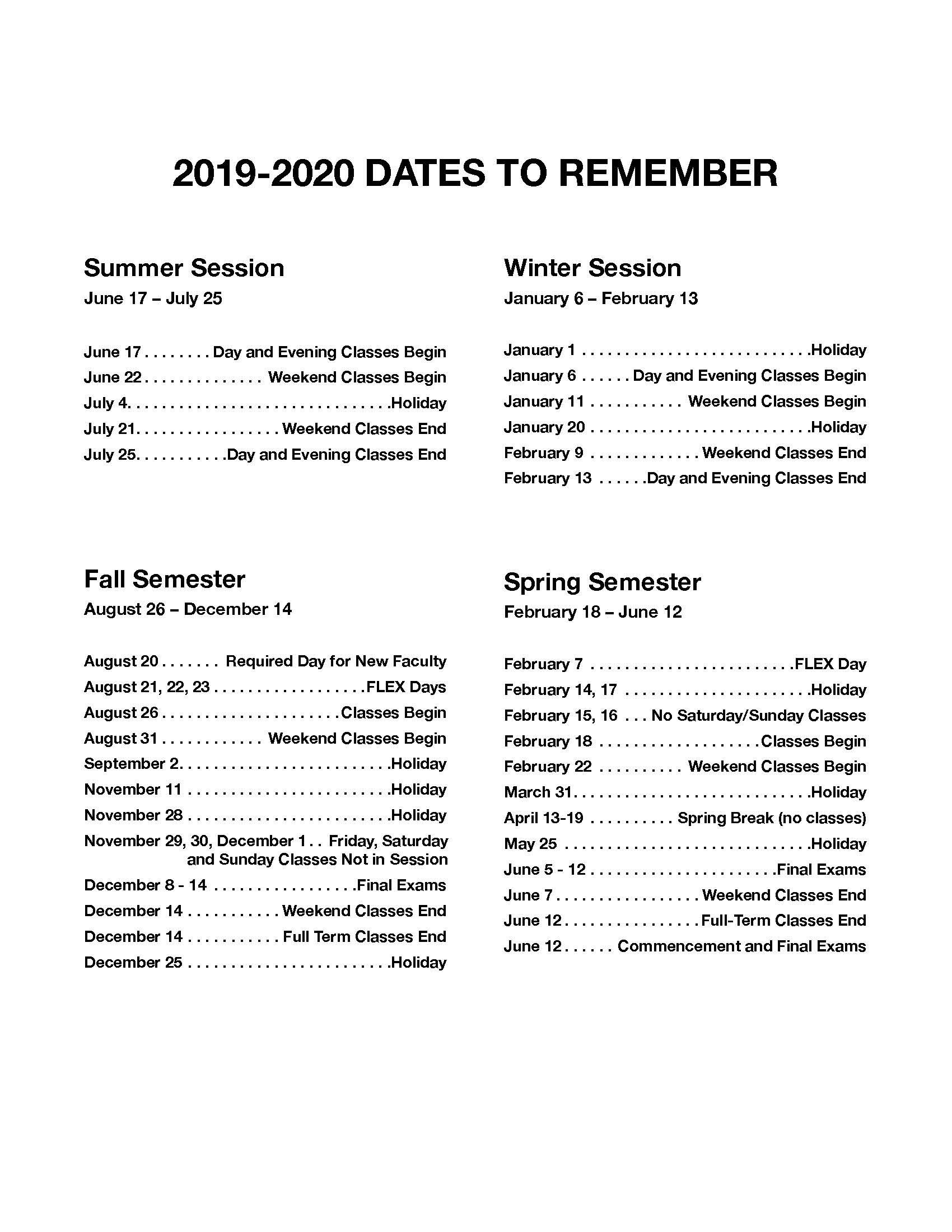 Jfk And Norco College Calendar 2019 2020 – John F. Kennedy Within Corona Norco Calendar 2020