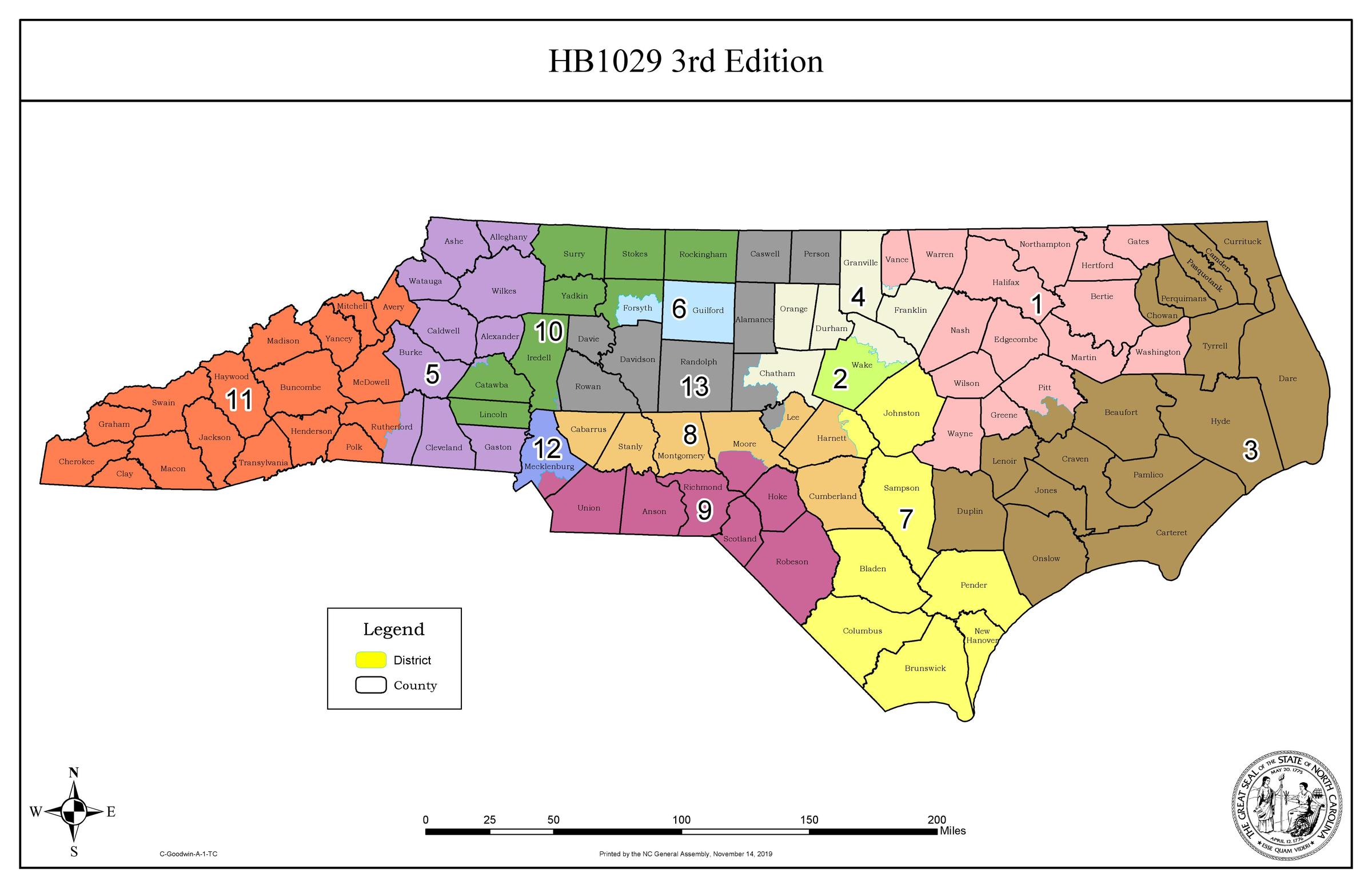 Judges: New North Carolina Congress Map Will Be Used In 2020 Intended For Nc Court Calendar District And Superior
