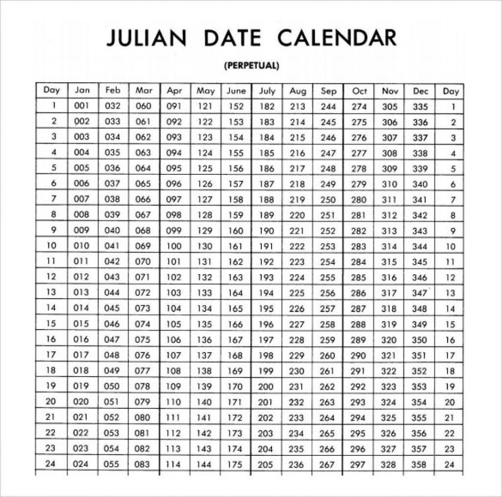 Julian Date Calendar 2020 | Calendar For Planning Within Leap Year Julian Calendar
