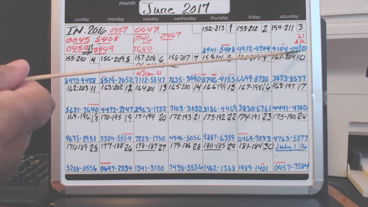 June Calendar Pic 3&4/lottery Detective 255 – Youtube Inside Cash 3 Midday Yearly Calendar