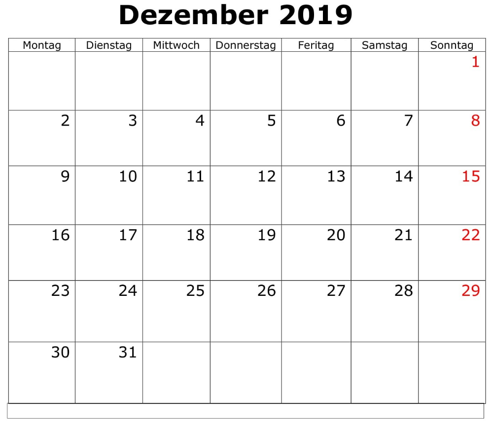 Kalender Dezember 2019 Monatlich Zum Ausdrucken (With Images Throughout Printable 30 Day Squat Challenge January 2021