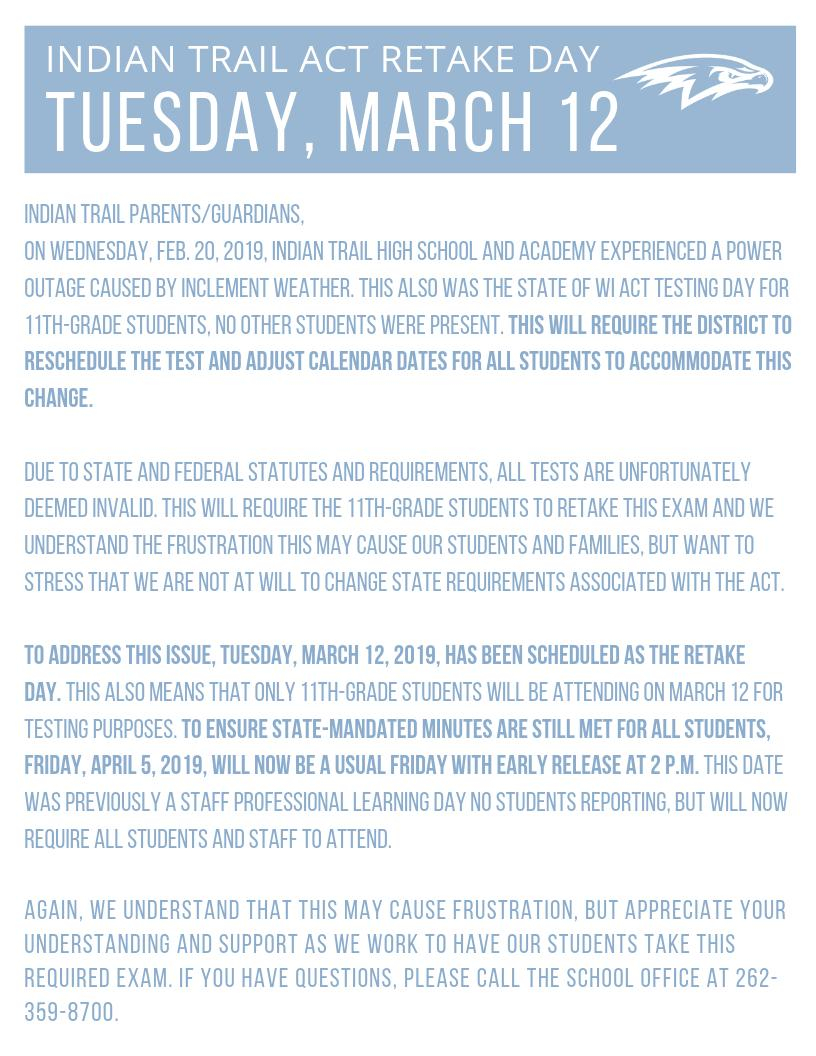 "Kenosha Unified Sd On Twitter: ""tuesday, March 12, 2019, Is In Kenosha United School District Calendar"
