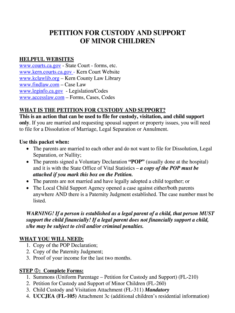 Kern County Child Custody - Fill Online, Printable, Fillable Within Kern County Family Court Calendar