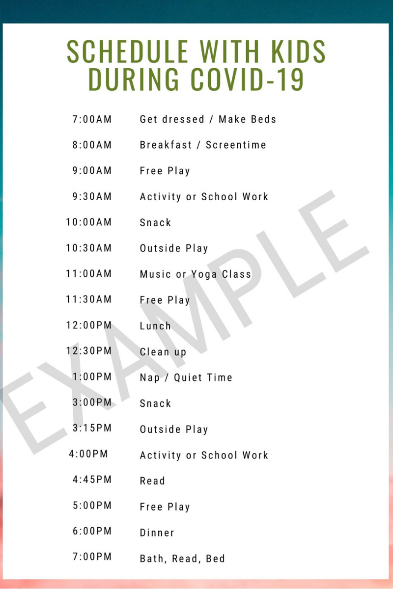 Kids At Home Schedule During Covid 19 | Nevada Moms Within Printable A Day Bday Schedule Virginia Beach