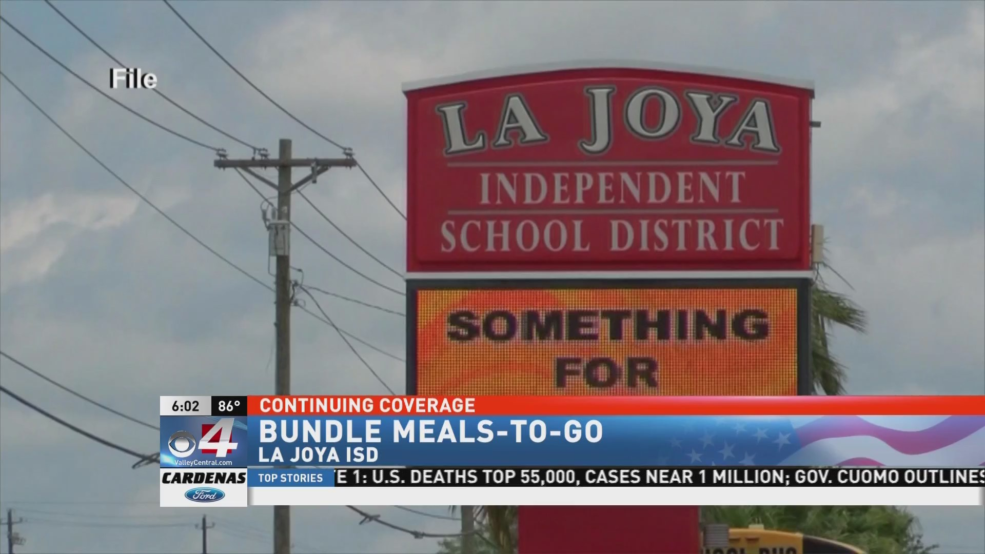 La Joya Isd Providing Meals To Go | Kveo Tv In La Joya Independent School District Calendar