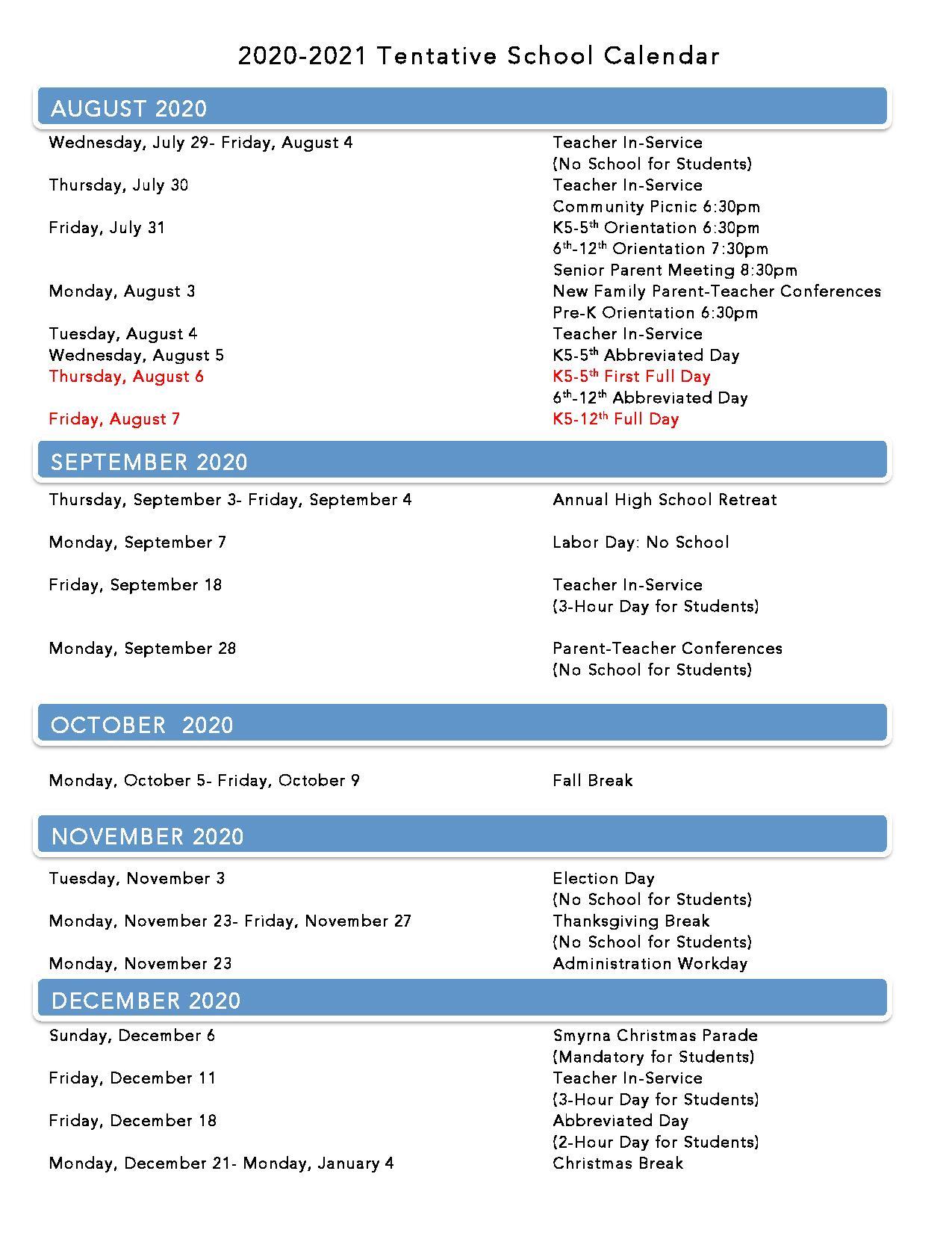Lca Calendar Inside Davidson County Tn School Calendar 2021