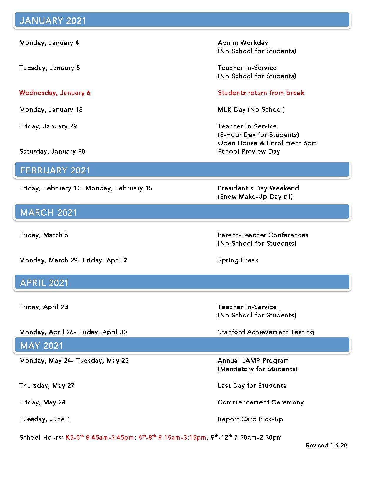 Lca Calendar Throughout Davidson County Tn School 2021 – 2020 Calendar