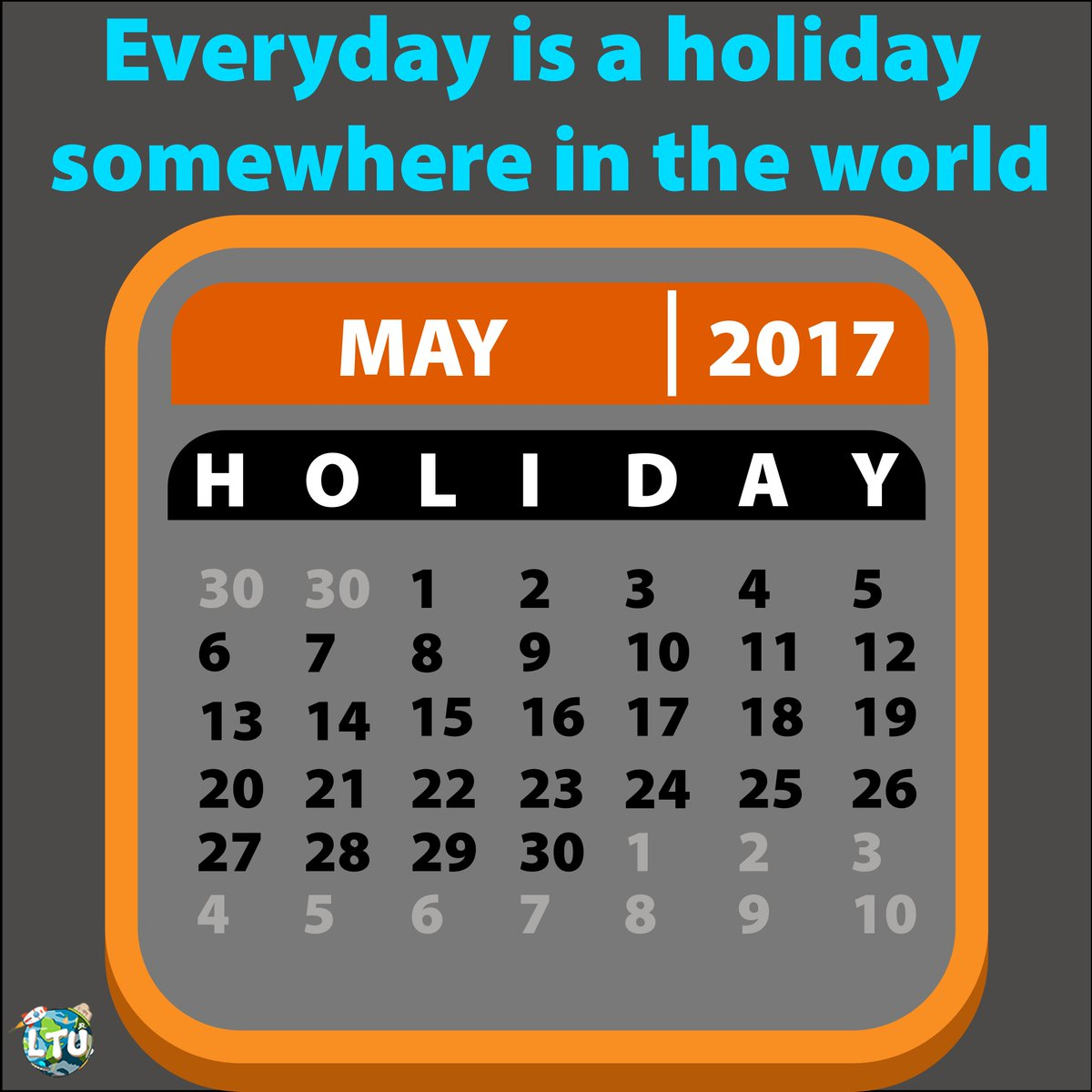 "Learn The Universe On Twitter: ""happy Holiday!! 😉😉 Follow Throughout Everyday Is A Holiday Calendar"