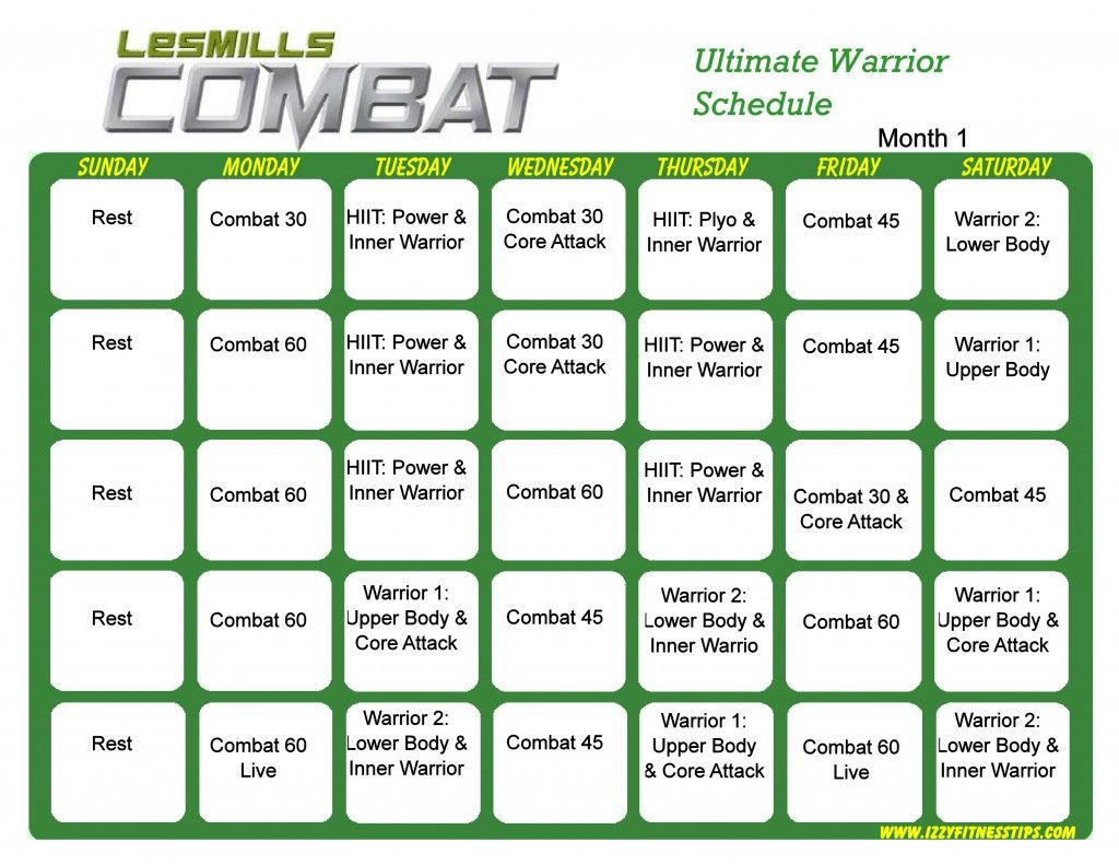 Les Mills Combat Workout Calendar | Workout Calendar, Hip Pertaining To Body Combat Workout Schedule