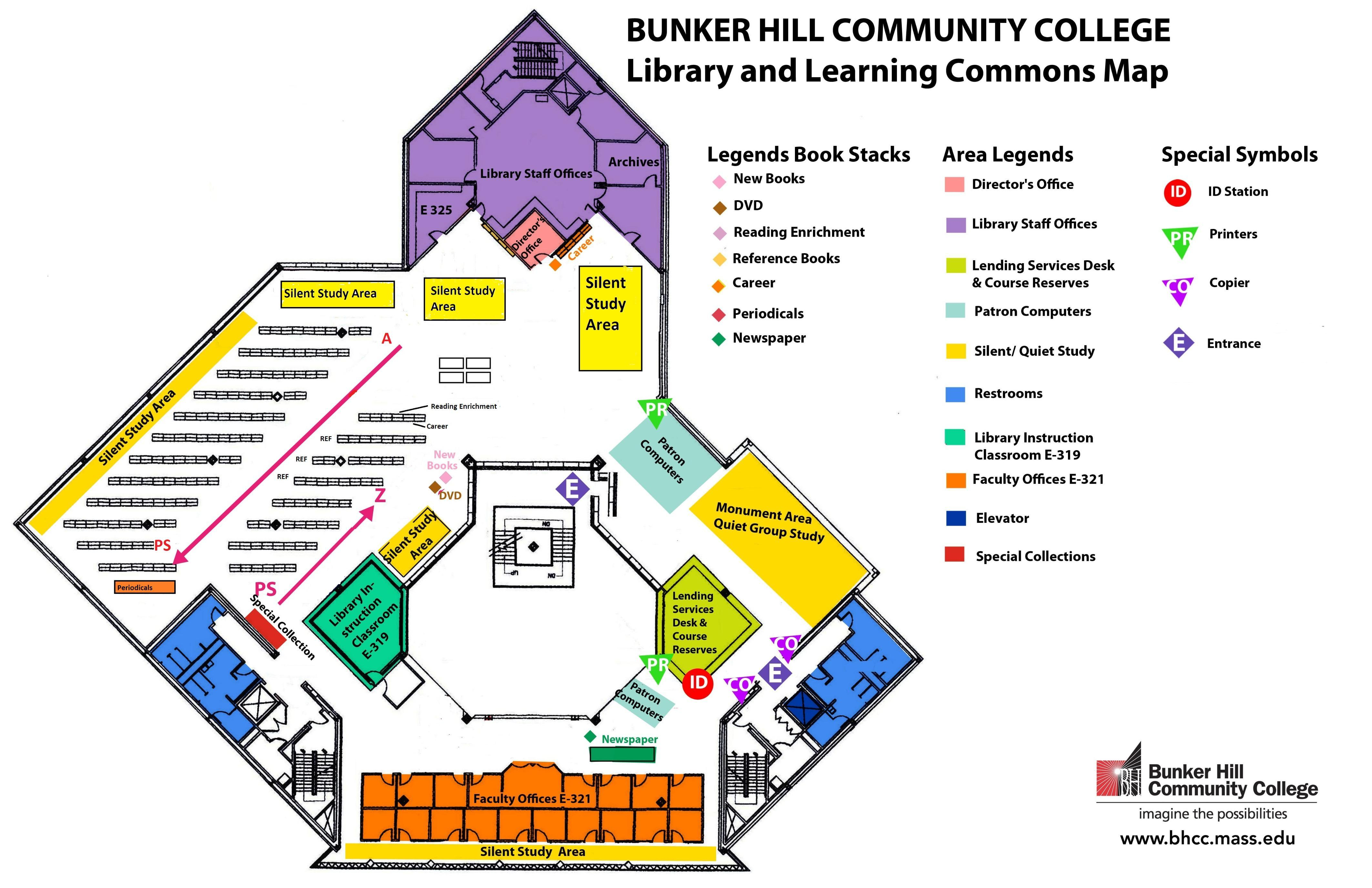Library Map – Bunker Hill Community College Regarding Bunker Hill Community College Academic Calendar