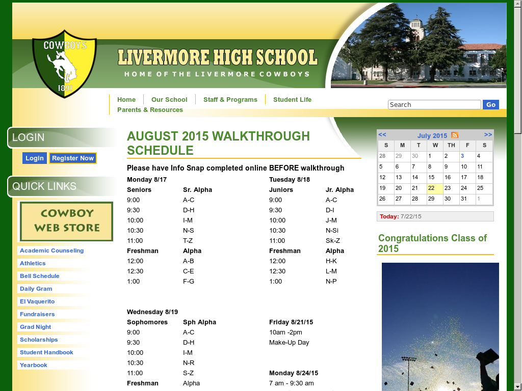 Livermore High School Competitors, Revenue And Employees Within Livermore School Calendar