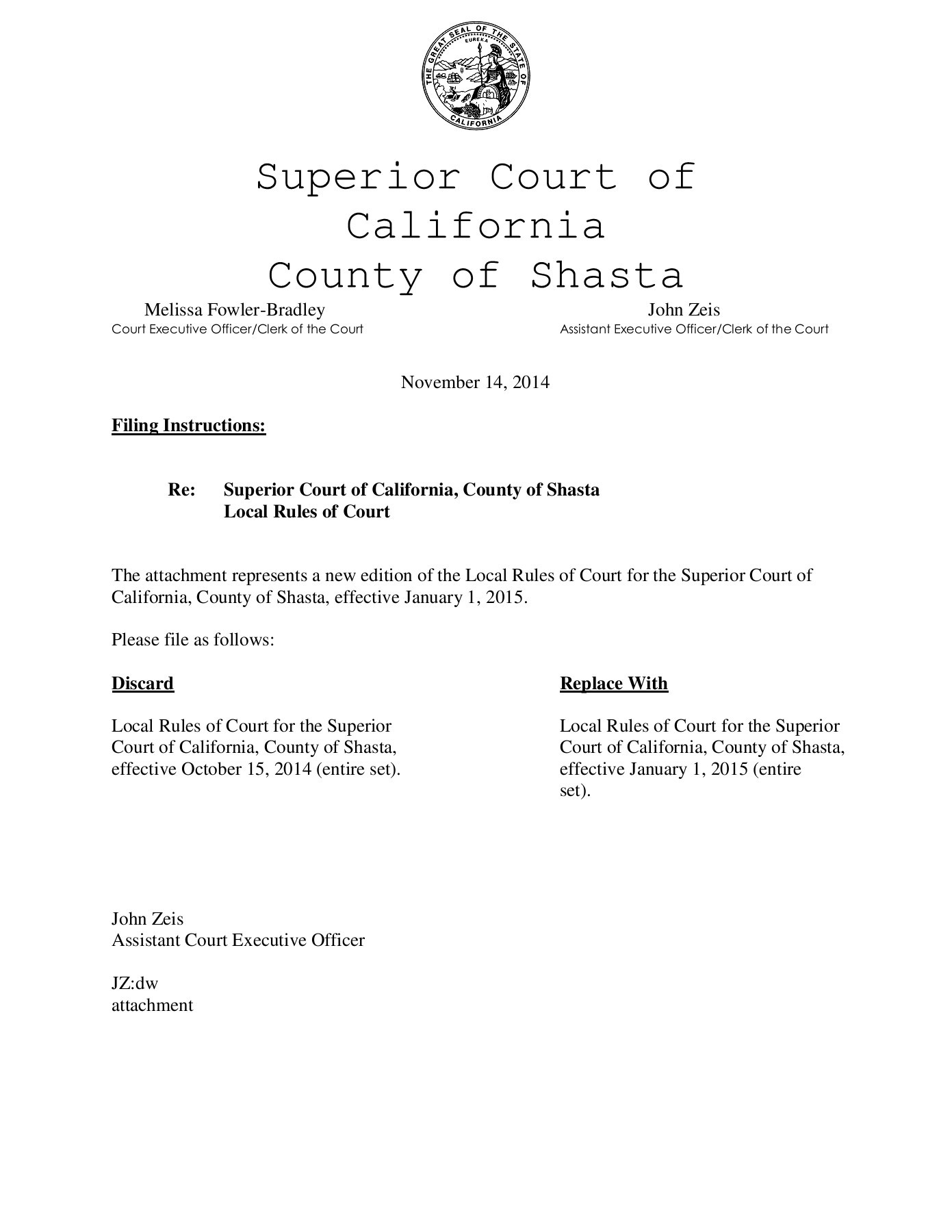Local Rules - Superior Court Of California - County Of For Shasta County Court Schedule
