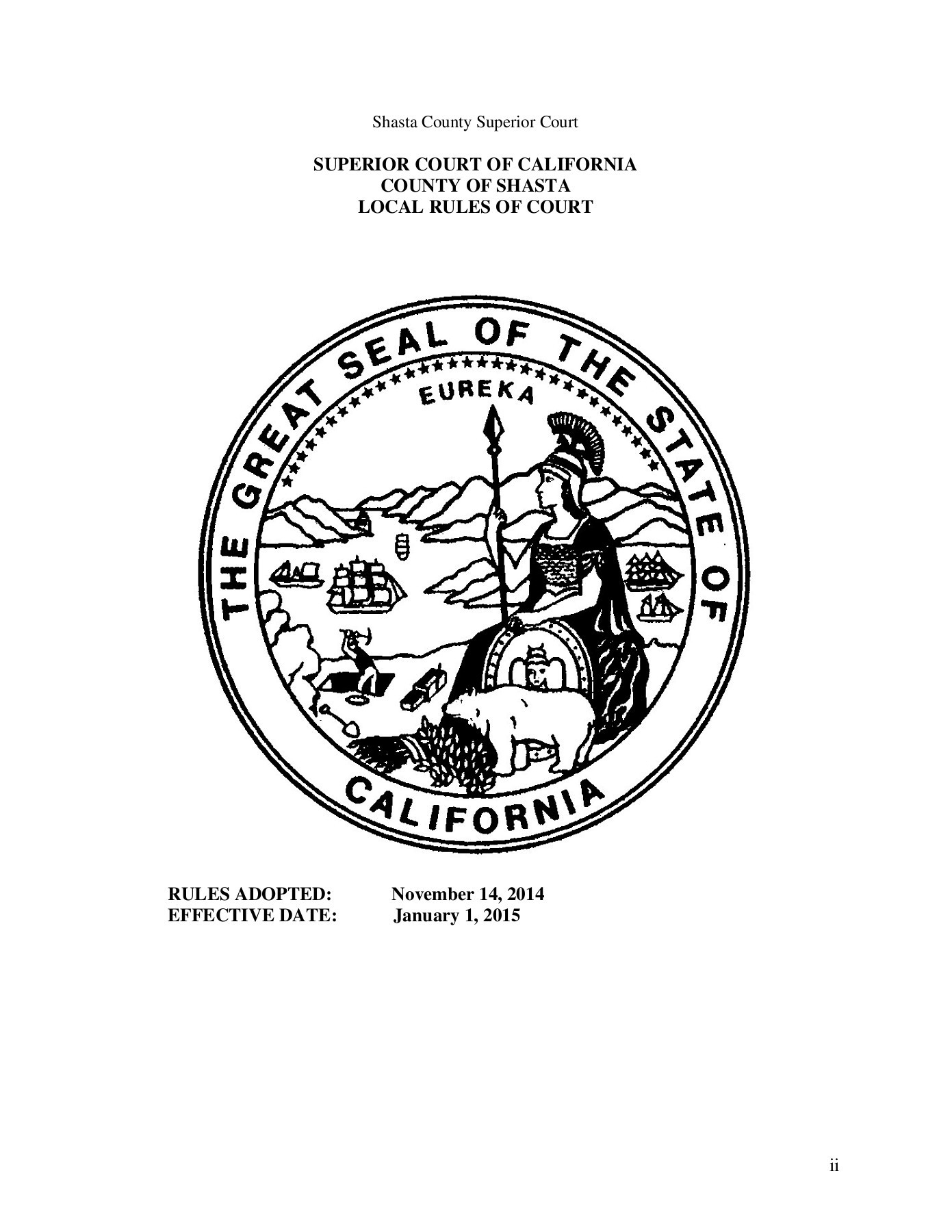 Local Rules - Superior Court Of California - County Of Intended For Shasta County Superior Court Calendar
