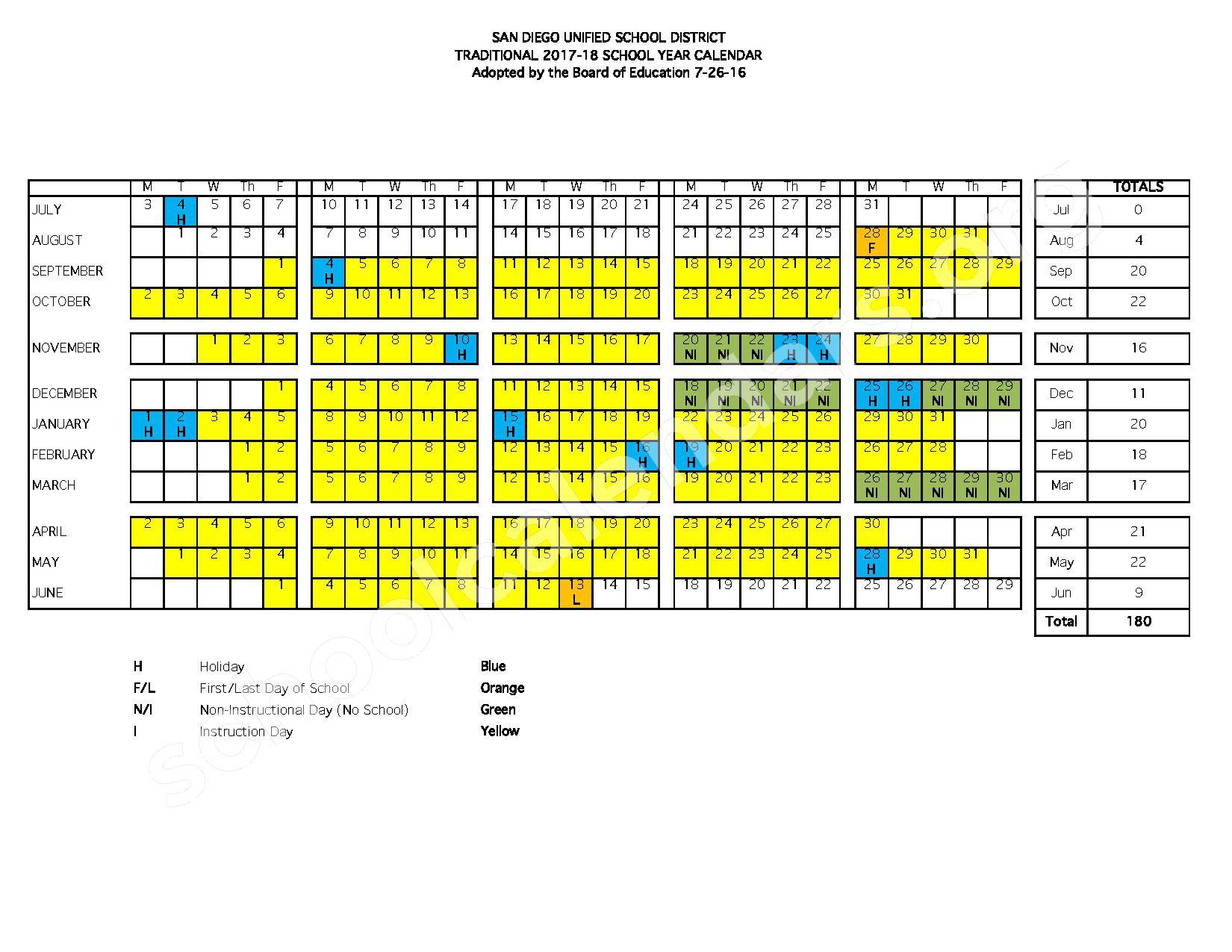 Loma Portal Elementary School Calendars – San Diego, Ca Throughout San Diego Unified School District Calendar