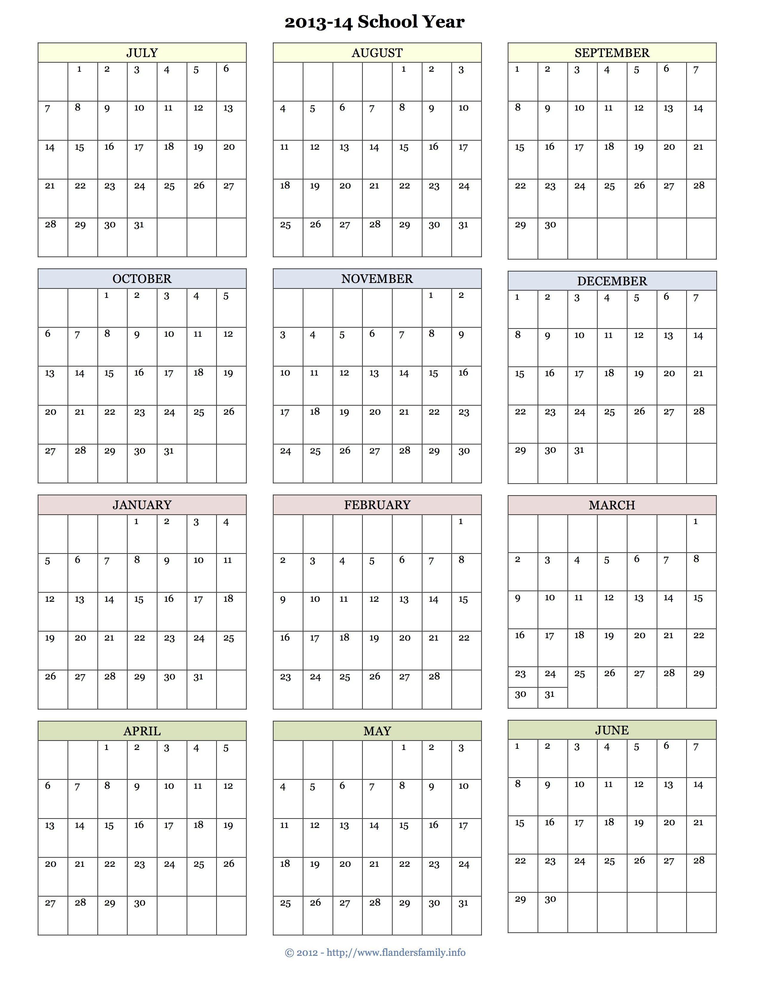 Lovely Printable Academic Calendar | Idées Pour La Maison For Printable 2020 2021 School Calendar
