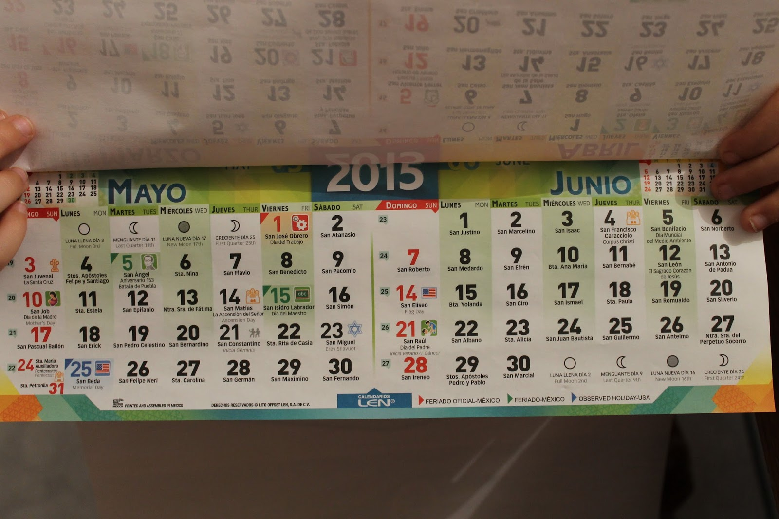 Loving The Land Of The Flour Tortilla: Octubre 2015 in Saint Names Mexican Calendar