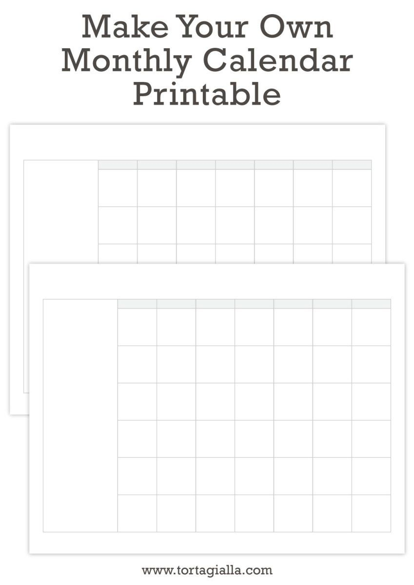 Make Your Own Monthly Calendar Printable | Make Your Own with regard to Create Your Own Calendar Printable