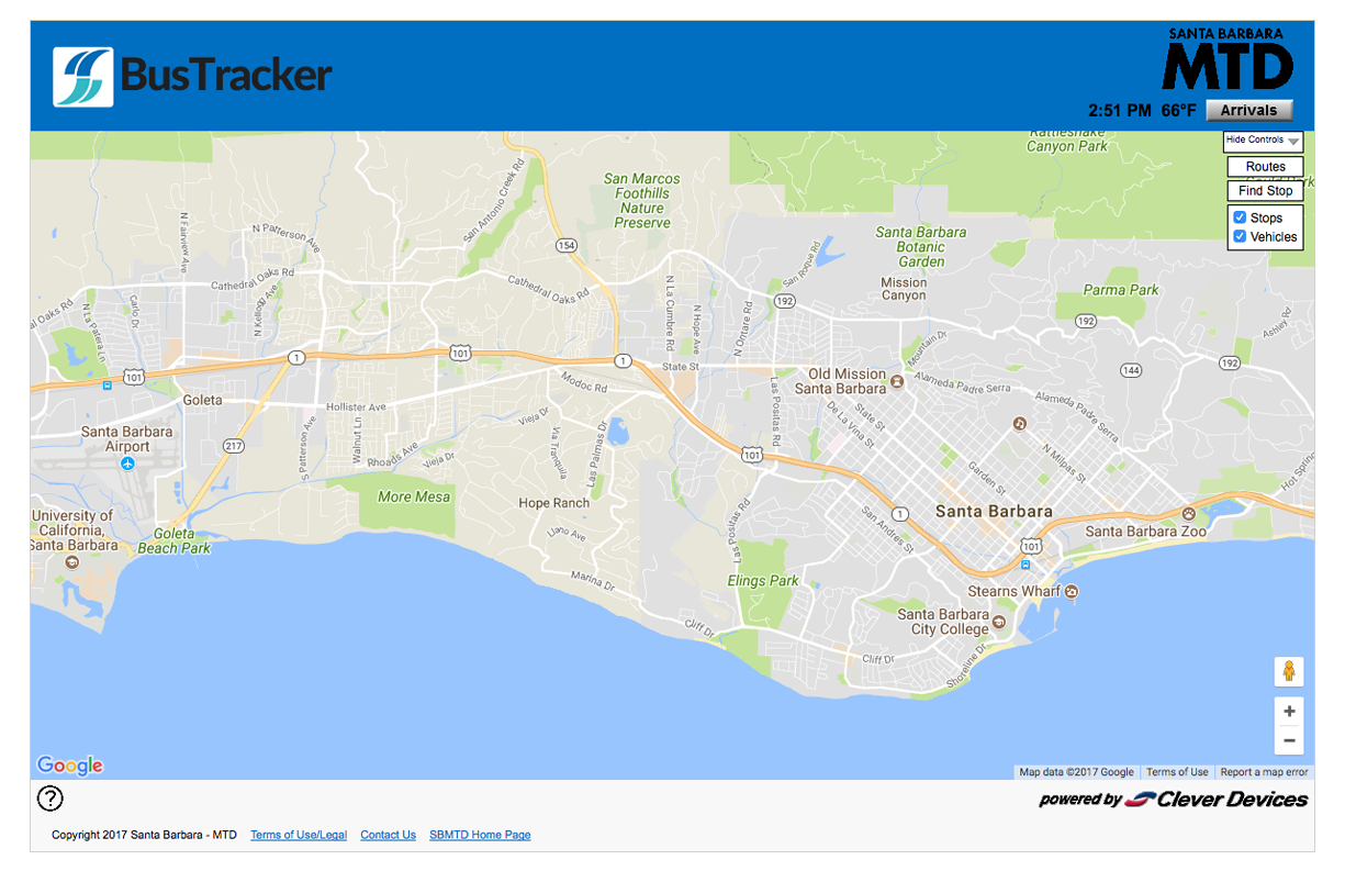 Maps & Schedules – Santa Barbara Mtd Intended For Santa Barbara Uc School.break