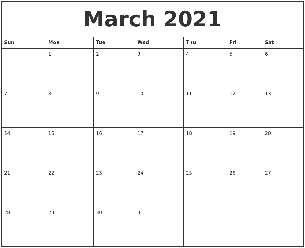 March 2021 Word Calendar For Word Of The Day Calendar 2021