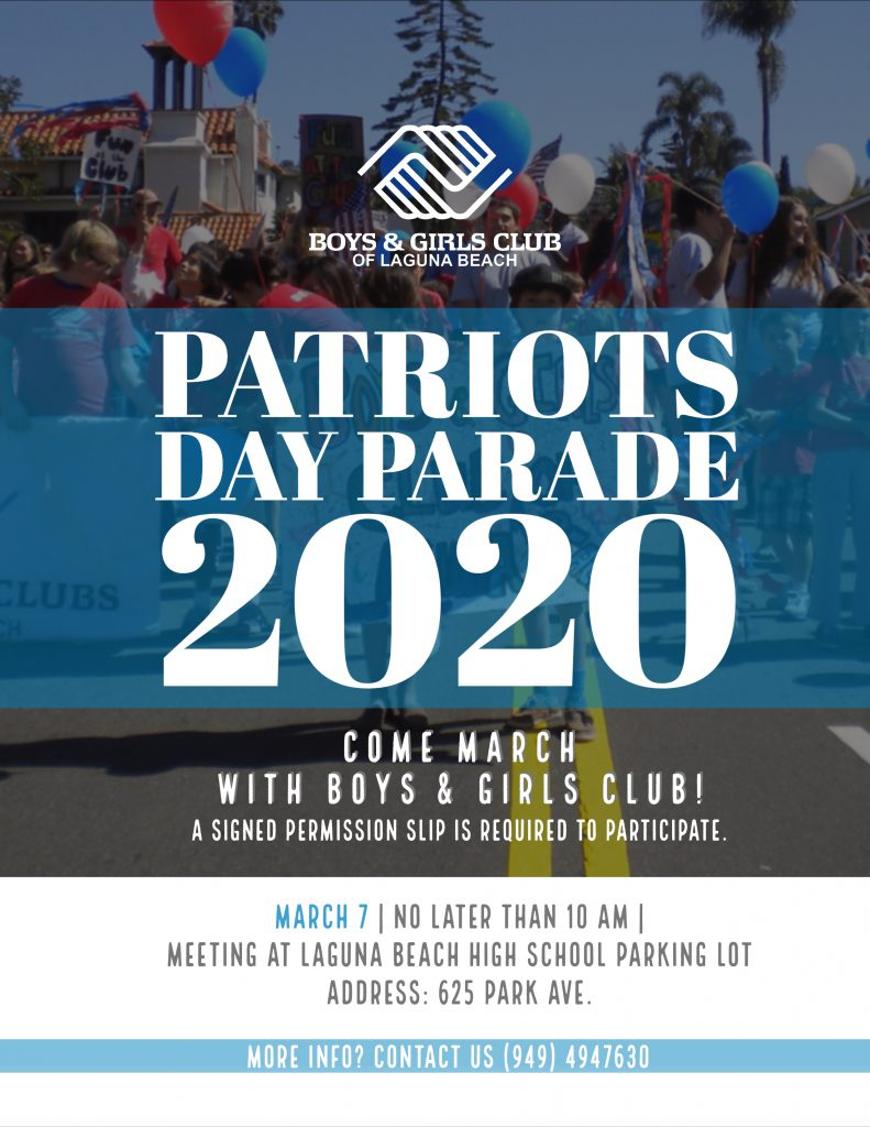 March In The Patriots Day Parade With Bgc  Laguna – Boys Inside Laguna Beach High School Calendar