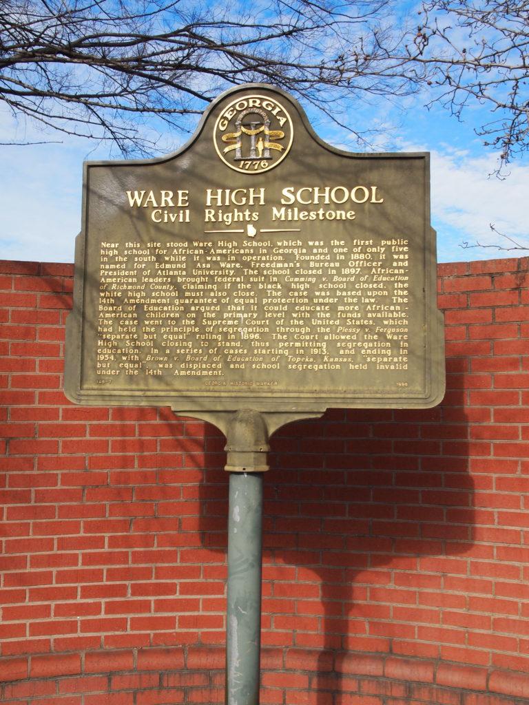 Marker Monday: Ware High School: Civil Rights Milestone Within Richmond County Board Of Education Ga Calendar