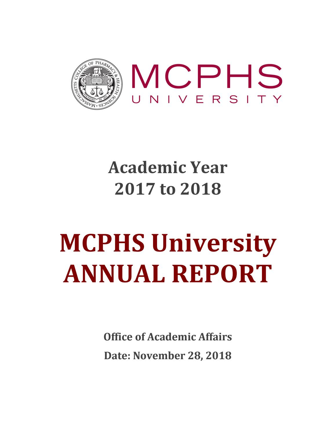 Mcphs University Annual Reportmassachusetts College Of Throughout Orange County Convention Center 2021 2020 Pdf