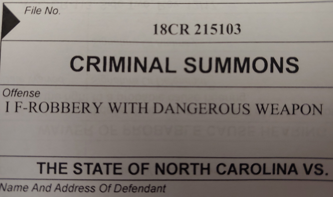 Mecklenburg Is Increasingly Issuing Summons Instead Of Inside Nc Courts Defendant Search By Name