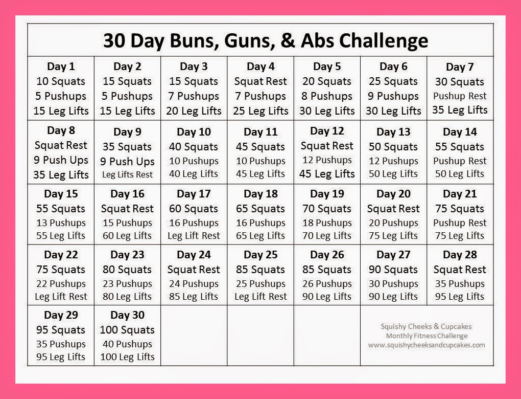 Monthly Fitness Challenge – April – Squishy Cheeks & Cupcakes Intended For April Fitness Challenge Calendar