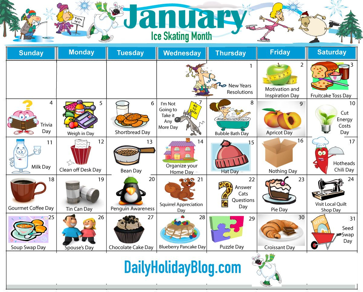 Monthly Holidays Calendars To Upload! | Weird Holidays intended for Every Day Is A Holiday Calendar
